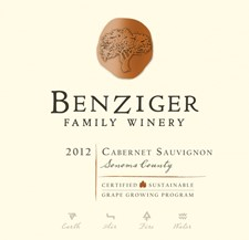BENZIGER Cabernet Sauvignon 2012