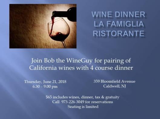 Wine DinnerLaFamiglia